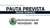 Legislativo divulga pauta prevista para a próxima Sessão Ordinária